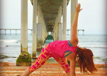 Revolved Triangle Pose How To by Christi Silbaugh