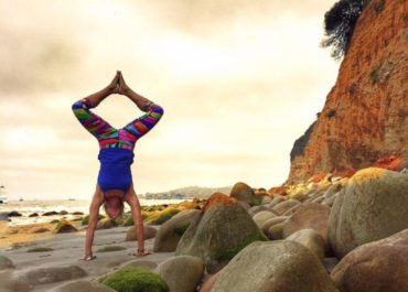 Adhomukhavrsasana Handstand by Leslie Storms