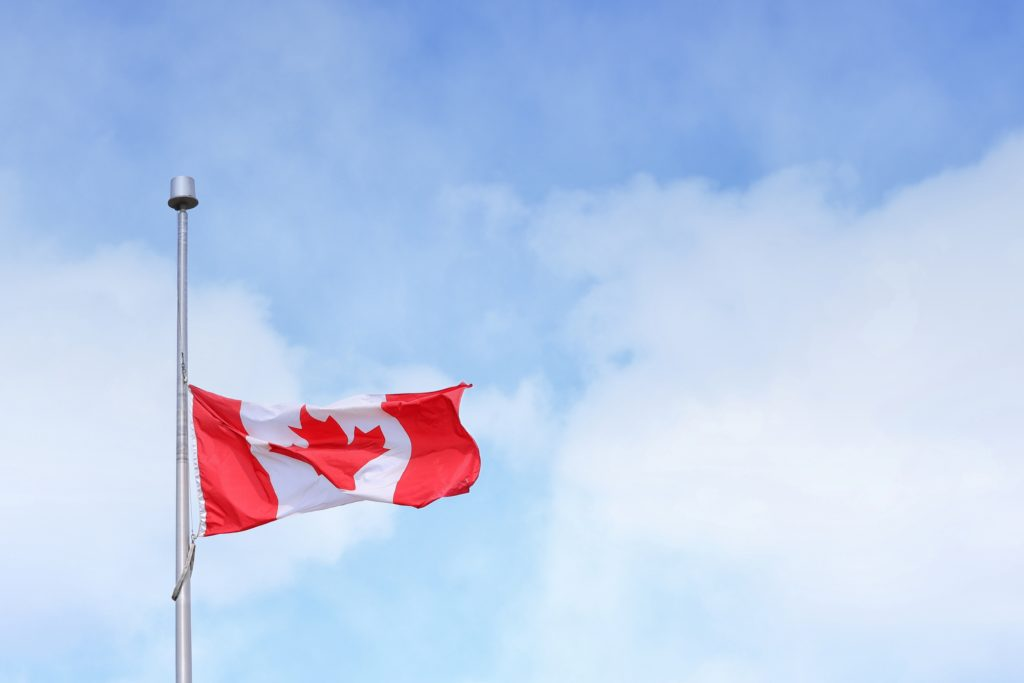 Canada Flag Photo by Jonathan Denney
