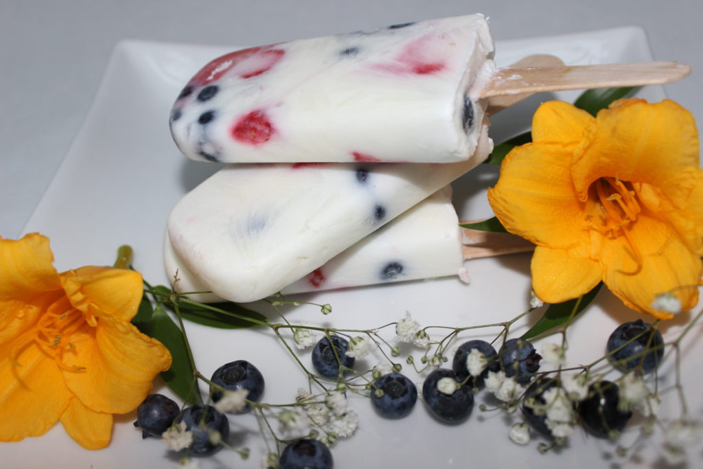 Berry Greek ice pop recipe